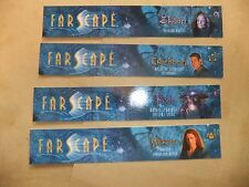FARSCAPE RARE set of 4 BOOKMARKS CRICHTON ZHAAN PILOT AERYN JIM HENSON