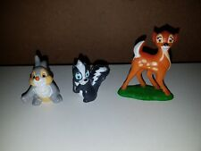 McDONALDS 1994 DISNEY'S BAMBI, THUMPER AND FLOWER  PROMO TOY FIGURINES