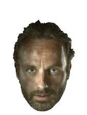 Rick grimes le walking dead sous licence officielle seule carte 2d partie masque