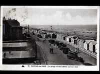 CAYEUX-sur-MER (80) AUTOMOBILES aux VILLAS & CABANONS de PLAGE animés en 1932