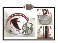 """Custom 1974 Atlanta Falcons White Prototype 2"""" Pocket Pro Football Helmet"""