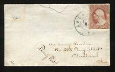 "#26 on Cover De La Palma OH Cancel Scarce DPO (1850/1882) ""Penny Post""  PH4004"