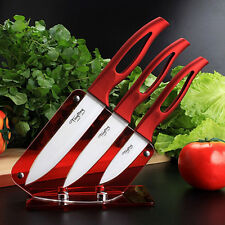 Kitchen White Blade Ceramic Knife Set Cooking Tools Red Handle