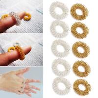 5/10Pcs Finger Massage Ring Acupuncture Health Care Body Acupressure Massager