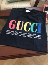 NEW Men's Size M GG T-Shirt 100 Cotton Rainbow Cities Balenciaga GG Nike Kering