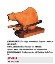 MORSA PER PROSCIUTTO. Corpo in acciaio supporto e manici legno pregiato  AV4510