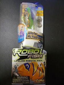 Zuru Robo Alive Fish BRAND NEW Water Activated Catalina Goby Green Purple Orange