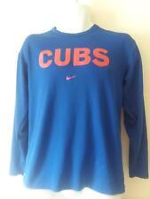 Cubs Nike Long Sleeve Blue Dri Fit Shirt, Size Small Mens, Nike DriFit Shirt