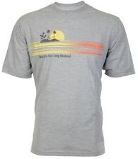 TOMMY BAHAMA Mens T-Shirt MAKE LIFE ONE LONG WEEKEND Relax GREY Camp XL-3XL $45