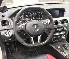 GENUINE MERCEDES GLK C63 SL63 CLA SLK55 E63 CLS63 CARBON FIBER STEERING WHEEL