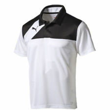 PUMA Mens Sports Football Esquadra Leisure Polo Shirt Top White Black L