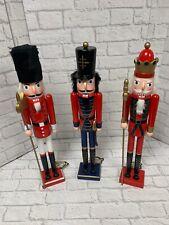 Christmas Nutcracker Decoration 24'' Wooden Figure 3 Designs Brand New