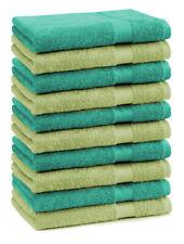 Betz lot de 10 serviettes débarbouillettes Premium vert pomme & vert émeraude