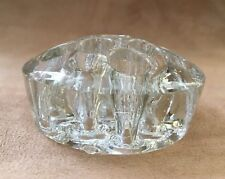 New listing Vtg Clear Heavy Medium Dome Glass Floral Frog (11 holes) Arrangements Nice!