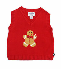 NWT Kitestrings by Hartstrings Size 3-6 Month Baby Boy Infant Red Holiday Vest