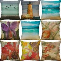 Flower Beacon Pillow Case Sofa Car Waist Throw Cushion Cover Home Decoration