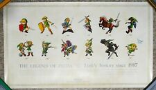 Rare Limited Club Nintendo The Legend Of Zelda Link's History 1987-2009 Poster