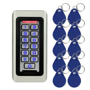 Home security Keypad RFID ID Card Reader Door Access Control+10RFID Card Keyfobs