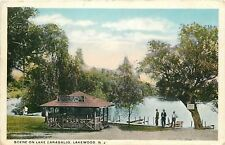 Lakewood NJ~Lake Carasaljo~Shelter: Tables Free~Ice for Sale~Boats For Sale~1920