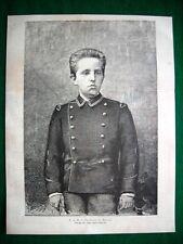 1882 - S.A.R. Il Principe di Napoli (disegno del signor Dante Paolocci)