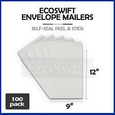 100 White Self Seal Catalog Mailing Shipping Kraft Paper Envelope 28 Lb 9 X 12