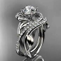 Fashion Women Infinity 925 Silver Wedding Rings White Sapphire Ring Size 6-10
