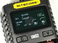 Nitecore UMS2 2ch USB Li-ion Ni-Cd Ni-MH Battery Fast CHARGER