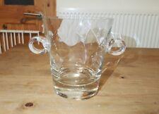 Beautiful Glass Ice Bucket Heavy