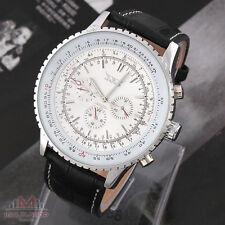HERREN UHR Luxus Watch Automatikuhr Edelstahl Armbanduhr Top Geschenk A034 Weiß