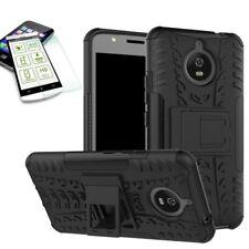 Caso de híbrido 2 pieza SWL negro para Motorola Moto E4 plus + H9 vidrio blindado nuevo