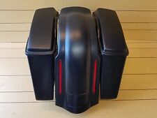 "HARLEY DAVIDSON 4""EXTENDED STRETCH BAGS,LIDS AND REAR LED FENDER NO CUT OUTS."