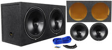 "(2) Rockford Fosgate P3D4-15 15"" 2400w DVC Car Subwoofers + Sub Enclosure Box"