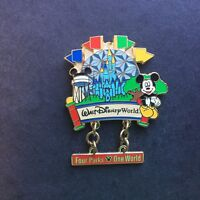 Four Parks One World Mickey Mouse Dangle Disney Pin 2583