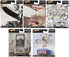 Hot Wheels 2019 Pop Culture Led Zeppelin, 1/64 Diecast Cars, Set of 5 DLB45-946E