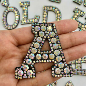 Yazon 11pcs Rhinestone Star Patches Iron on Transfer Bling Bling Star for Jacket Clothing Hats
