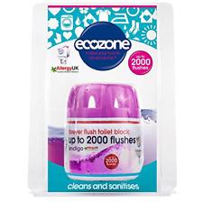 Ecozone Forever Flush Flushes 2000 Toilet Block Indigo Cleans Sanitises Ts05