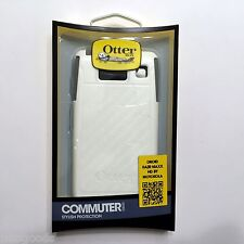 Motorola Droid Razr Maxx HD Otterbox Commuter Case Cover Skin Glacier White Gray