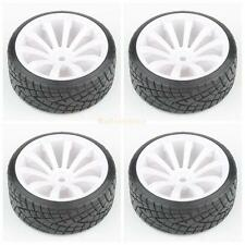 4pcs RC Car Tires Tyre & Wheels 10-Spoke White for HSP HPI 1/10 Scale Drift Car