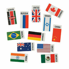 Flags Around The World Erasers -24 Pc. - Stationery - 24 Pieces