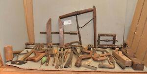 Antique cooper tool lot wood block & molding plane marking specialty vintage C6