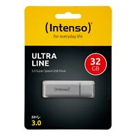 Intenso Ultra Line 32 GB USB 3.0 Stick 32GB UltraLine silber 3531480 OVP