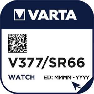 Pile Montre 377 / SR66 / AG4 / SR626SW Varta