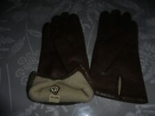 {Vintage Butter Soft Leather Ladies Gloves Size 7 1/2 Knitted Wool Lining.