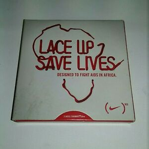 NIKE LACE UP SAVE LIVES  RARE SHOE LACES
