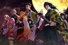 """Demon Slayer Hashira 36"""" x 24"""" Large Wall Poster Print Comic Decor Anime"""