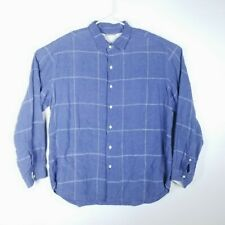 Tommy Bahama Mens Size XL Shirt RELAX Long Sleeve Plaids Blue White Collared