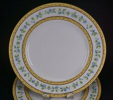 """Limoges Ceralene Raynaud MORNING GLORY Ring Two Large 10 3/4"""" Dinner Plates - C"""