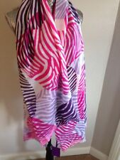 Lola Rose 100% Wool Zebra Print Heart Scarf - New