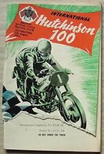 SILVERSTONE 7 Aug 1954 INTERNATIONAL HUTCHINSON 100 Motorcycle Programme