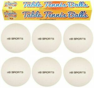 6 X Standard Full Size Table Tennis Balls White Ping Pong Ball Kids Adult Play